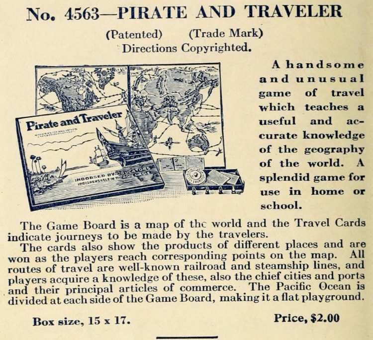 Vintage game - Pirate and Traveler