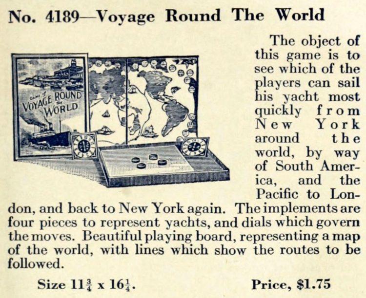 Vintage game - Voyage Round the World