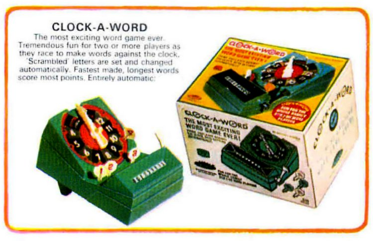 Vintage games from 1966 - Clock A Word