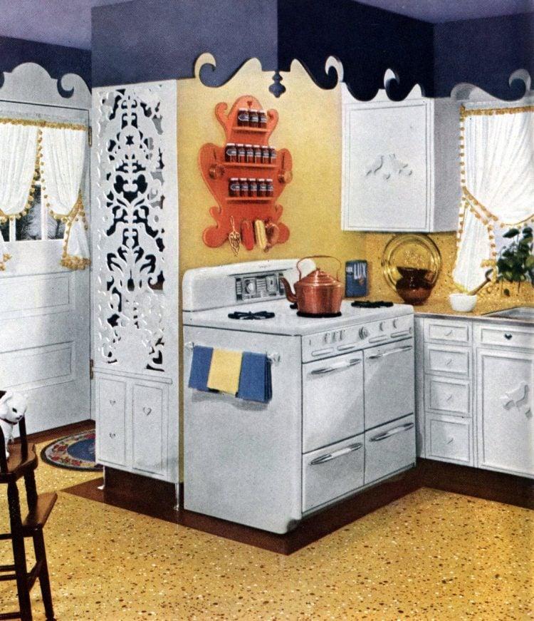 Vintage gas range - ovens burners from 1951