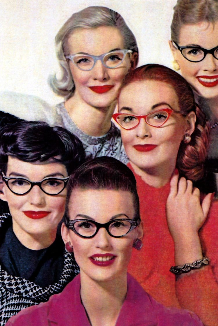 Vintage glasses styles from the fifties