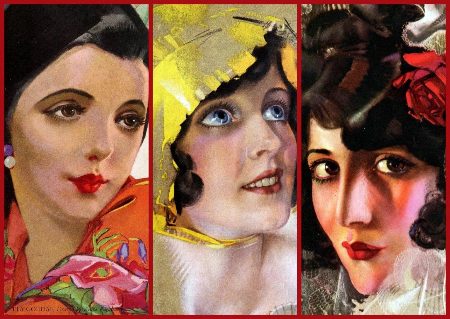 Vintage gorgeous, glamorous actresses of the 1920s