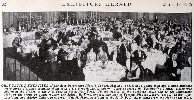 Vintage graduation dinner at Ritz-Carlton (1926) - ClickAmericana com