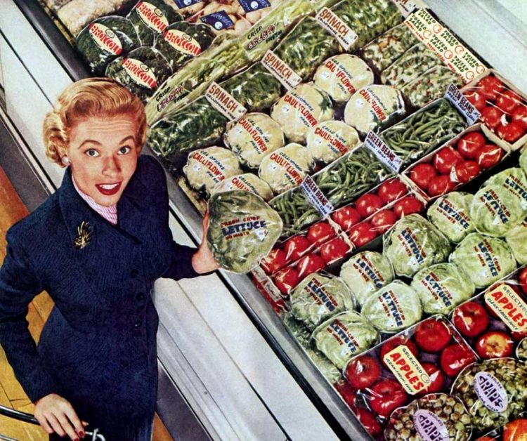 Vintage grocery stores and supermarkets - 1955