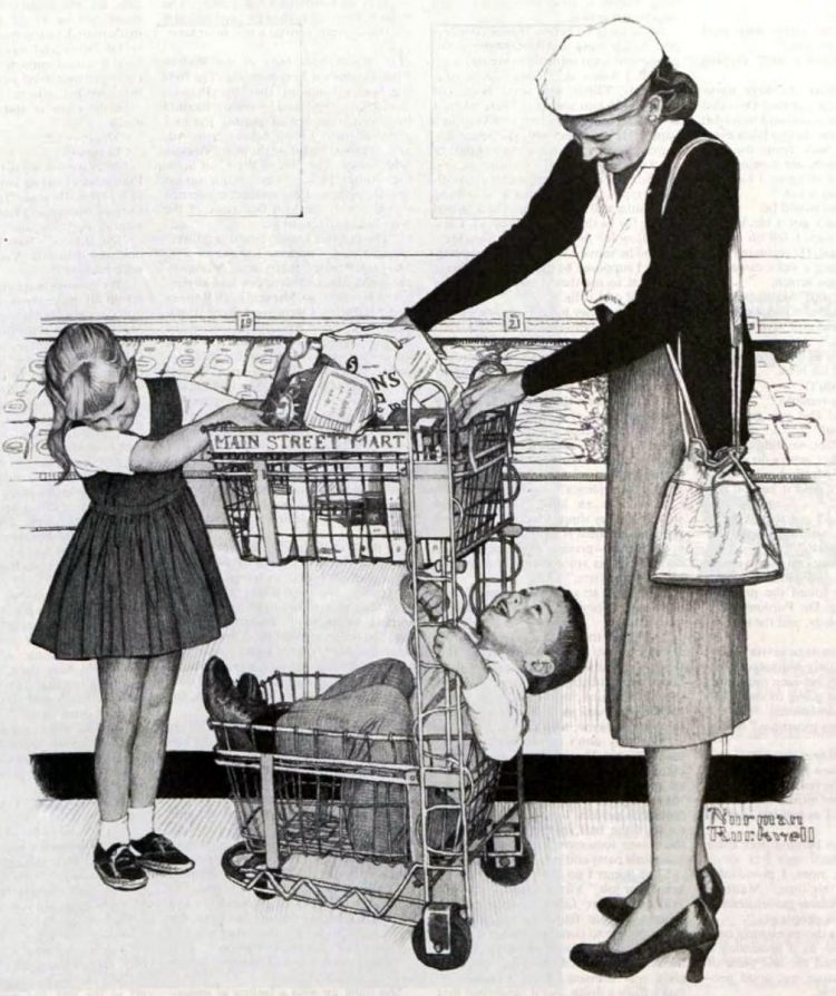 Vintage grocery stores and supermarkets - 1956 (2)