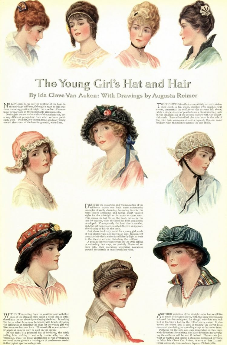 Vintage hairstyles for women (1914)
