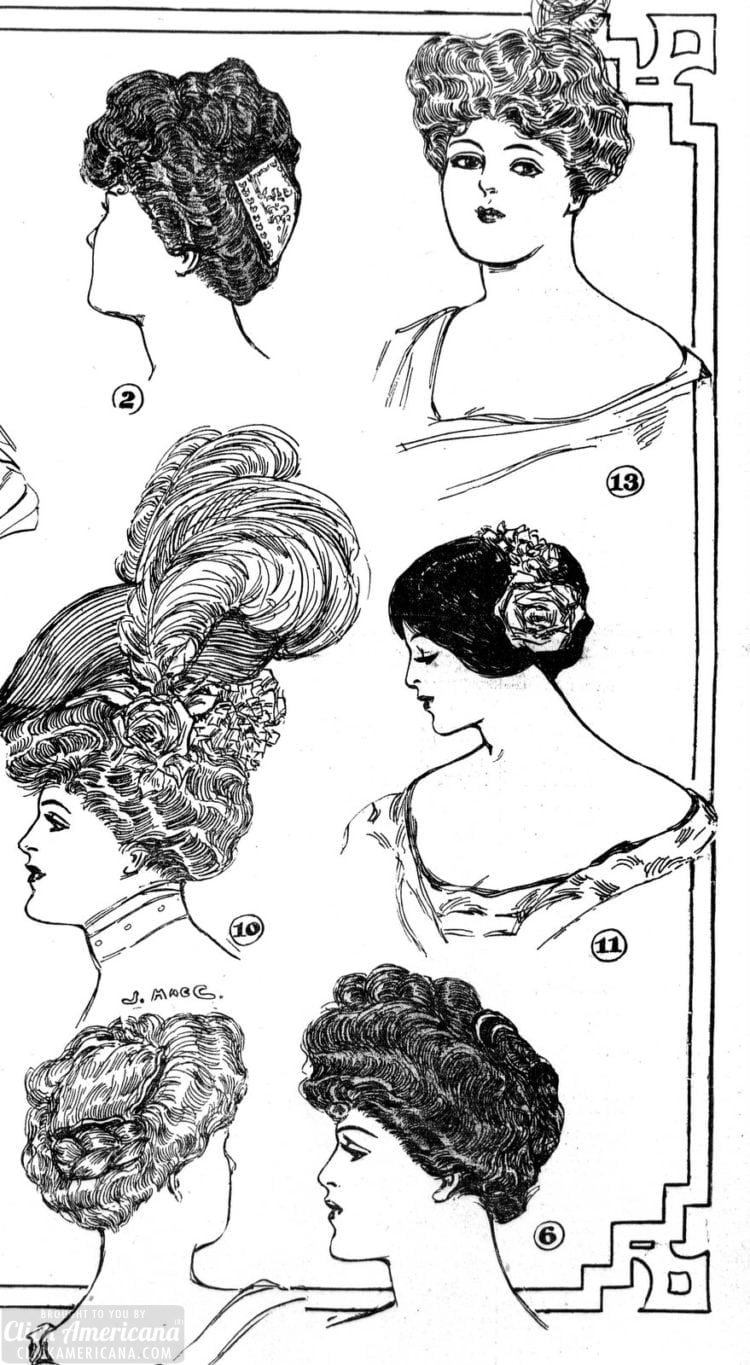 Vintage hairstyles for women - Los Angeles 1906 (1)