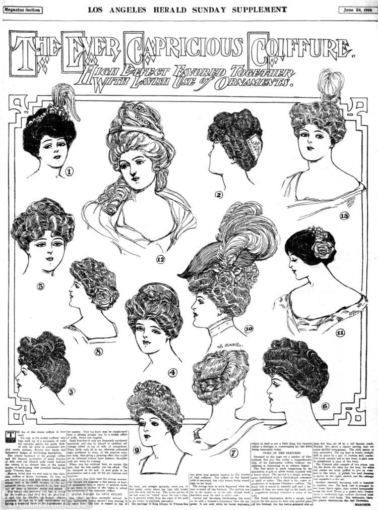 Vintage hairstyles for women - Los Angeles 1906 (2)
