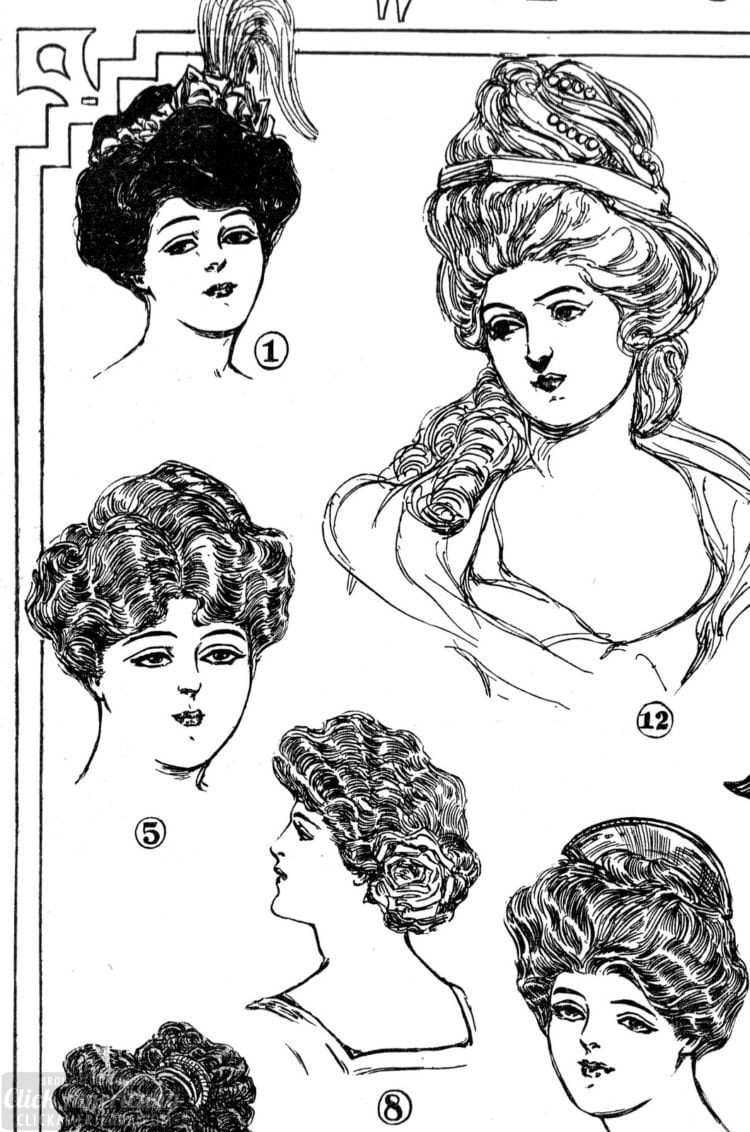 Vintage hairstyles for women - Los Angeles 1906 (3)