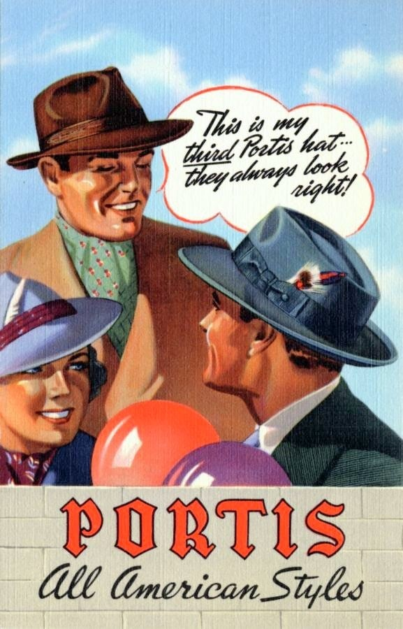 Vintage hats - textsPortis all American styles from 1940