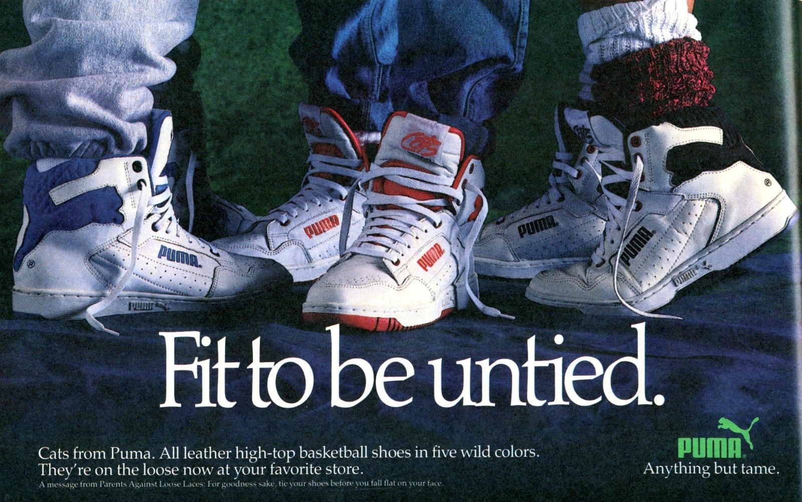 Vintage high-top Puma sneakers (1988)
