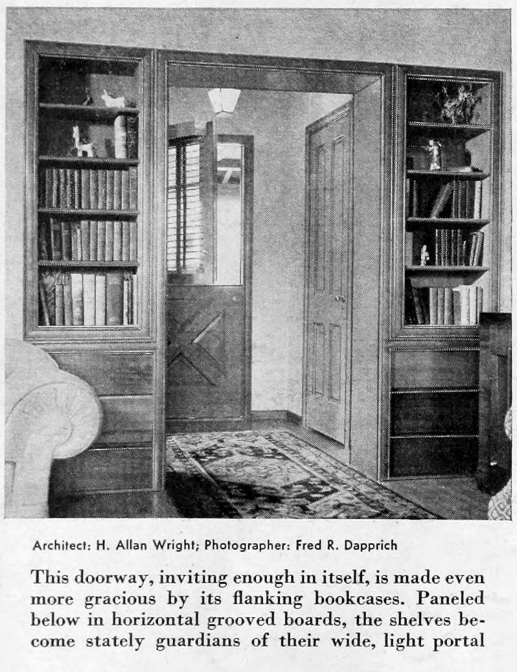 Vintage home decor - Books and bookcases 1941 (5)