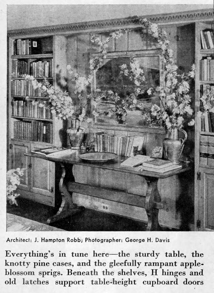 Vintage home decor - Books and bookcases 1941 (6)