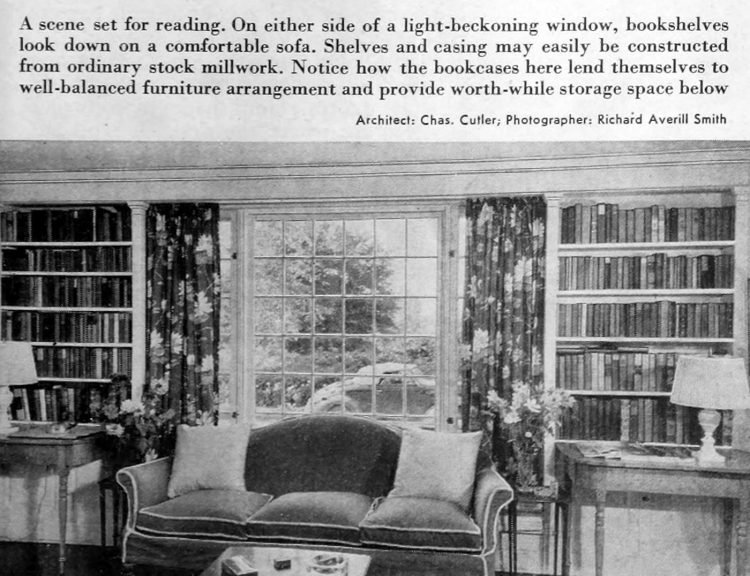 Vintage home decor - Books and bookcases 1941 (7)