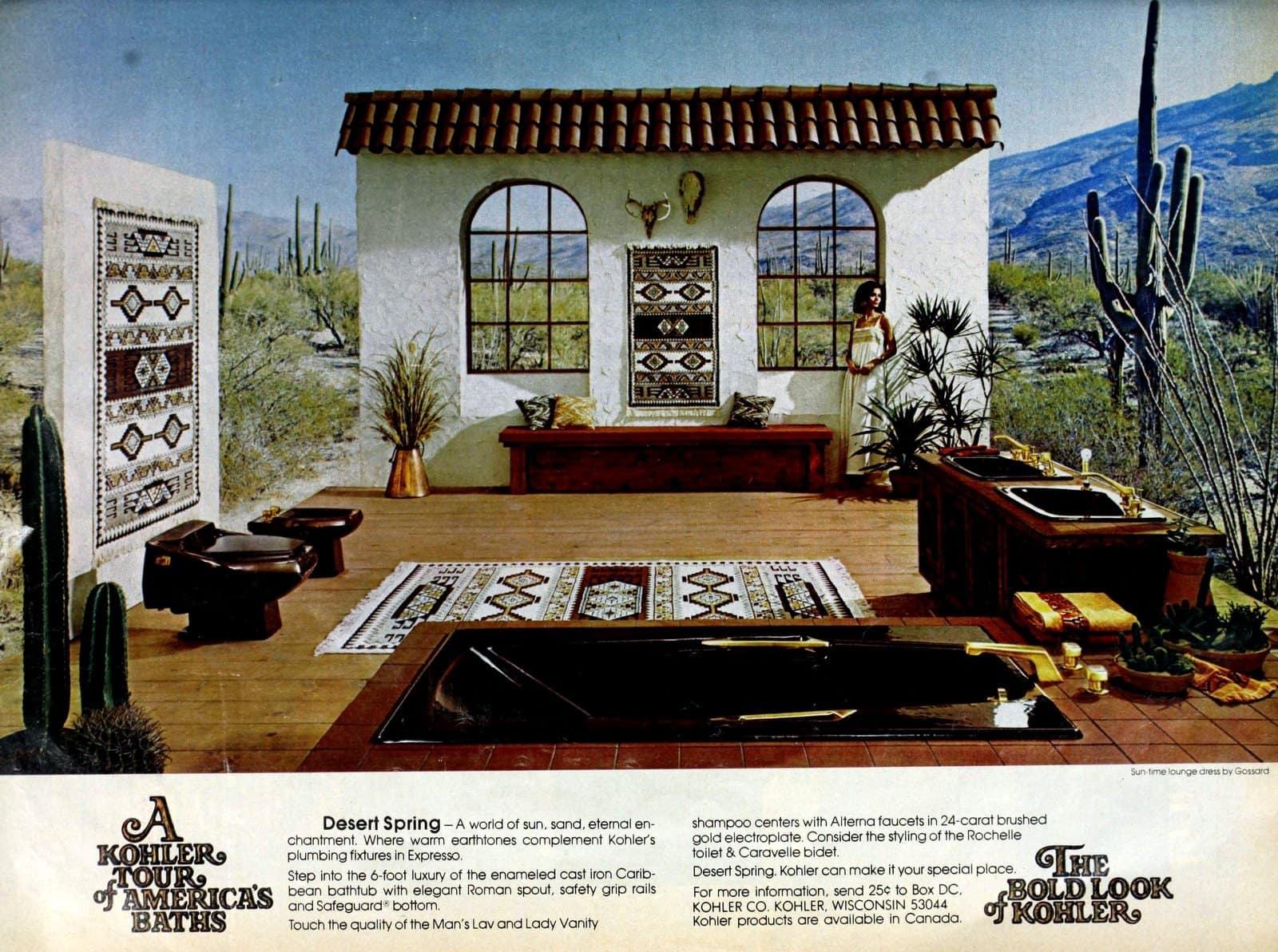 Vintage home decor - Kohler bathroom suites from 1976 (1)