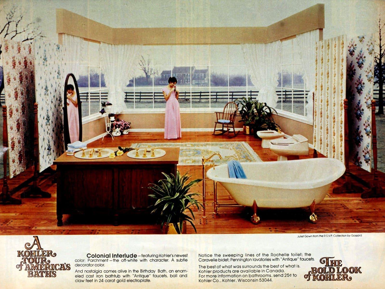 Vintage home decor - Kohler bathroom suites from 1976 (2)