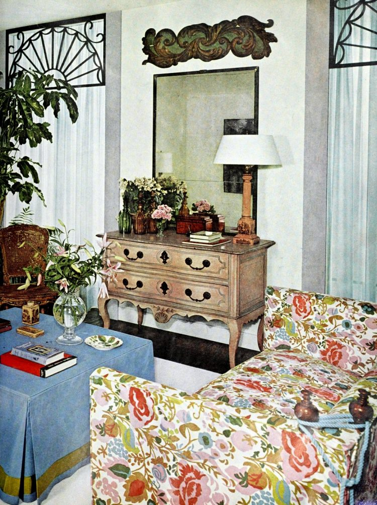 Vintage home decor and window treatment inspiration from 1960