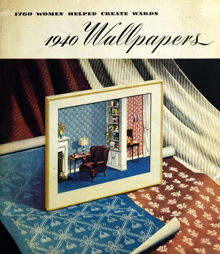 Vintage home decor with wallpaper from 1940 (1)
