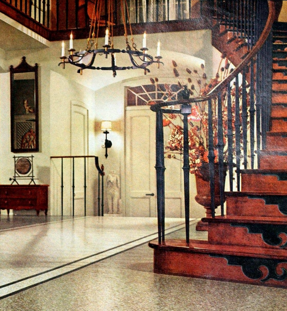 mid-century modern entrance hall from 1966