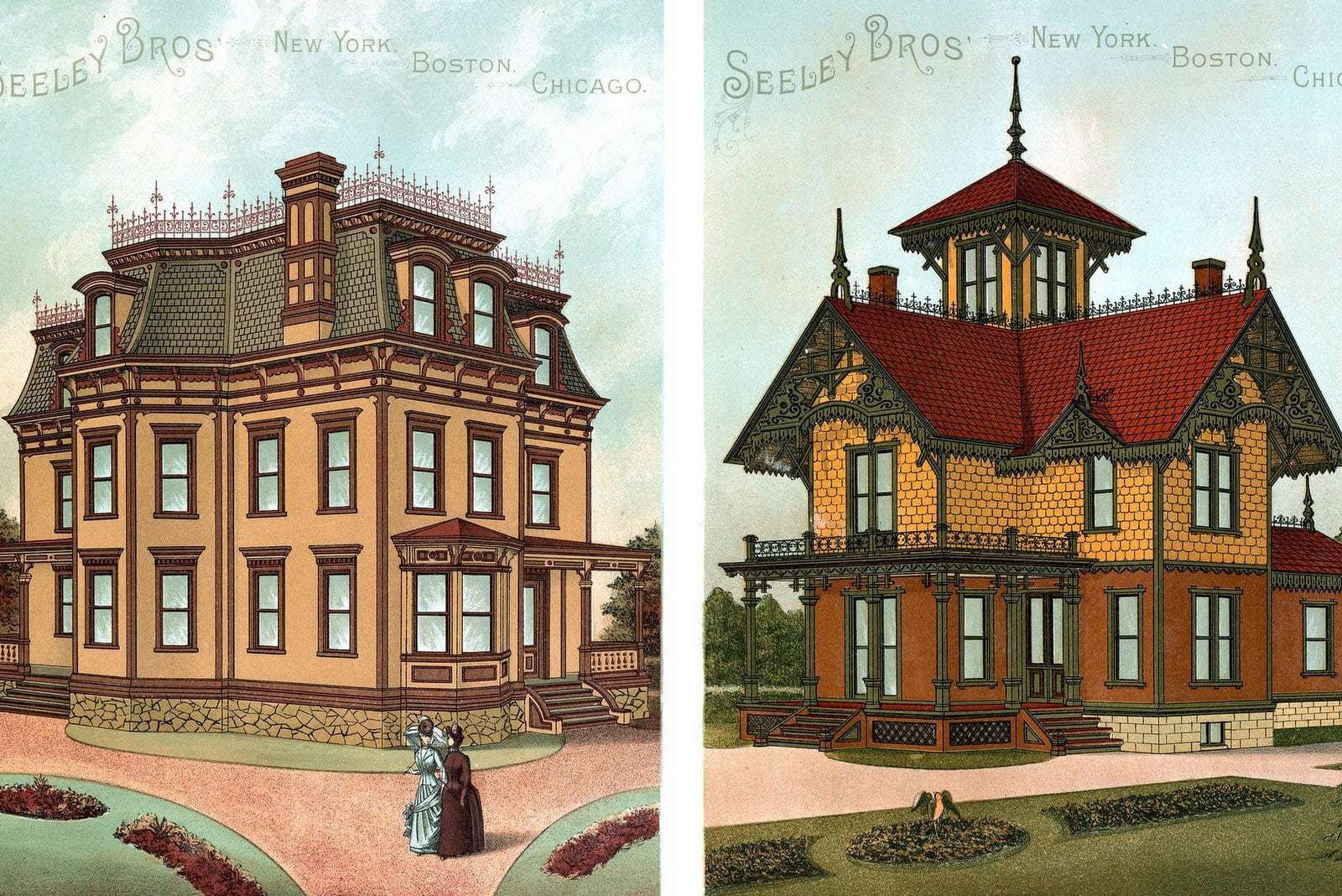 Vintage home exteriors See the decorator colors chosen for 18 Victorian houses (1886)