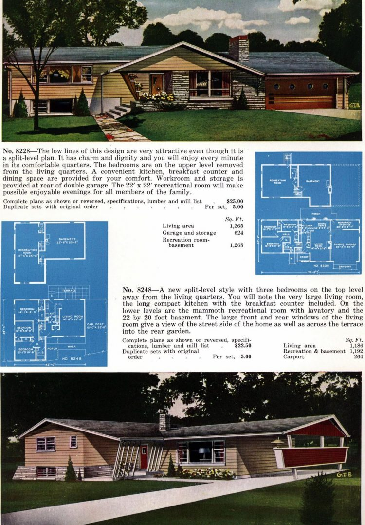 Vintage home plans from 1960 (1)