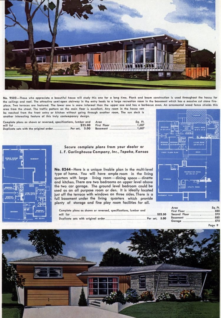 Vintage home plans from 1960 (2)