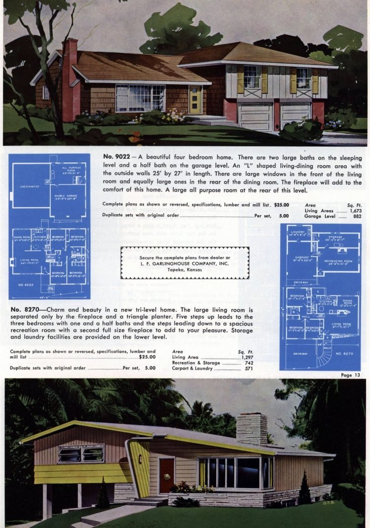 Vintage home plans from 1960 (4)