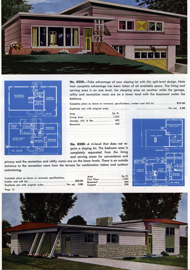 Vintage home plans from 1960 (5)