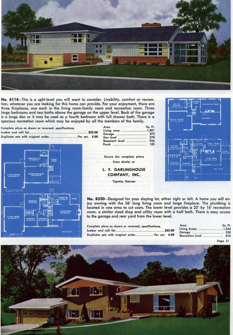 Vintage home plans from 1960 (8)