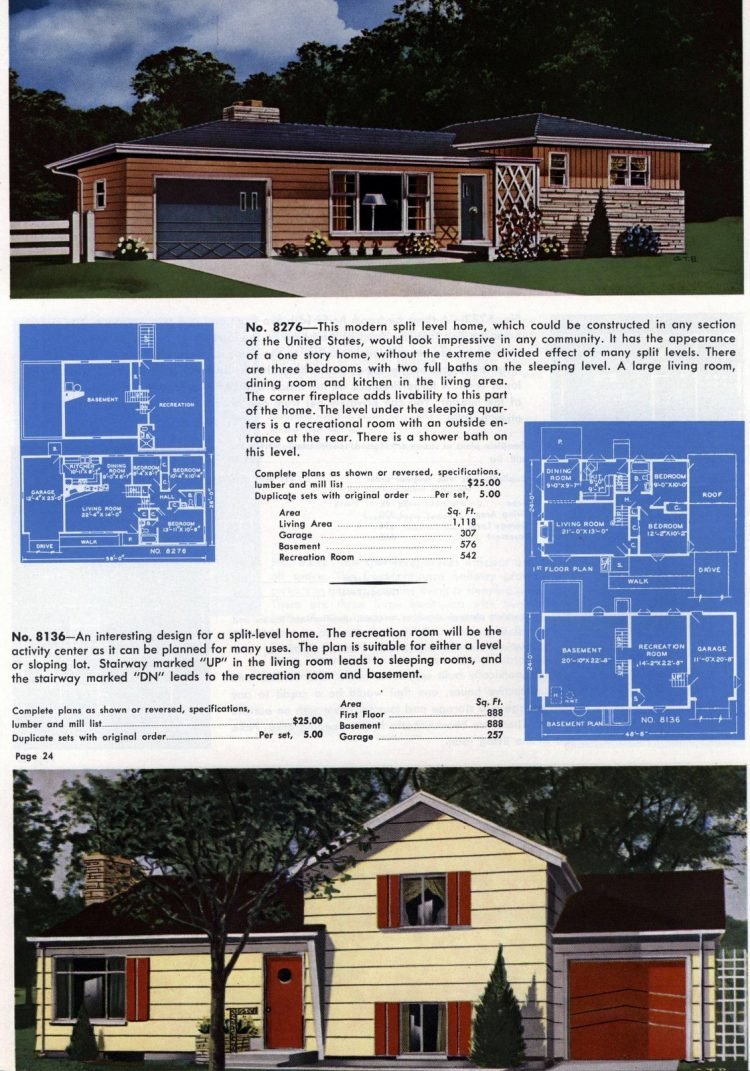 Vintage home plans from 1960 (9)