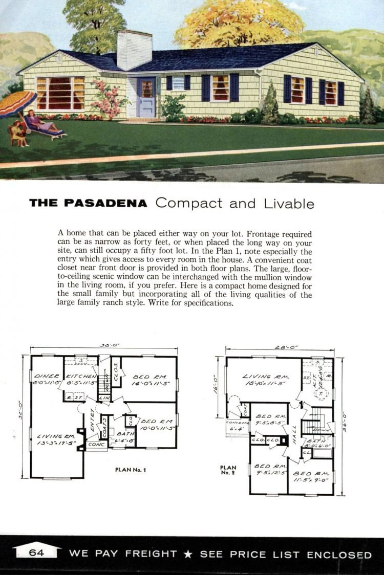Vintage home plans from 1961 by the Aladdin Company (1)