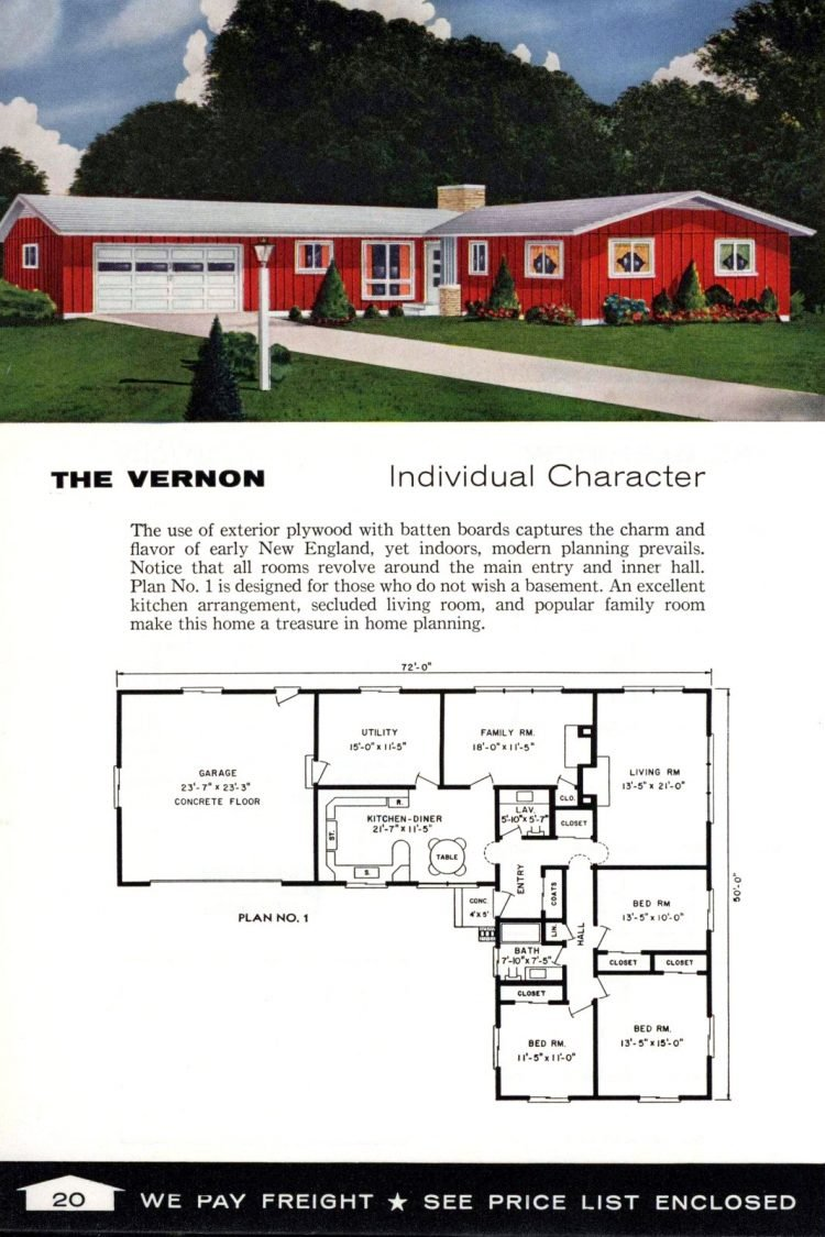 Vintage home plans from 1961 by the Aladdin Company (10)