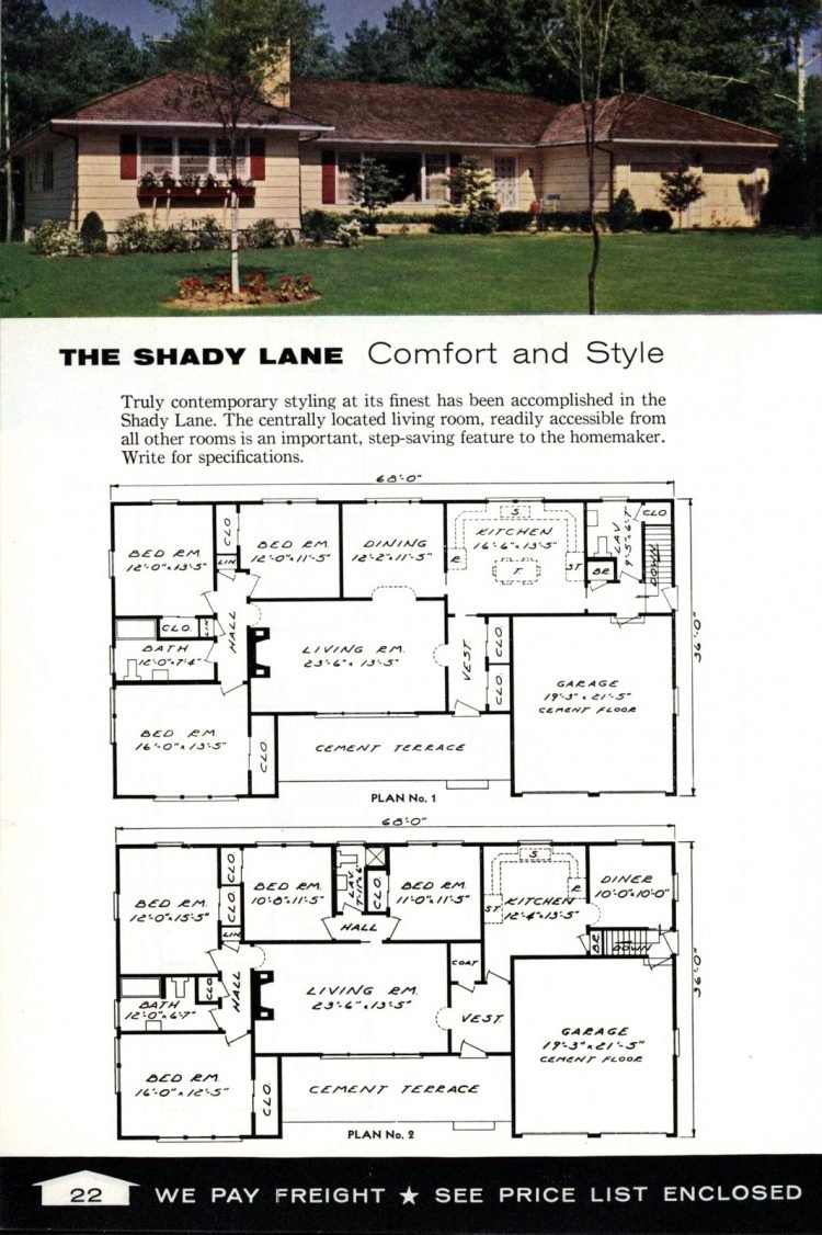 Vintage home plans from 1961 by the Aladdin Company (11)