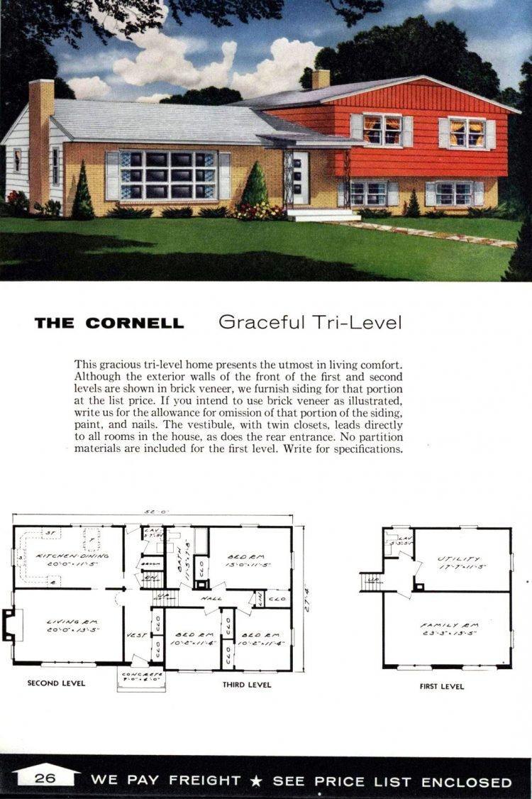 Vintage home plans from 1961 by the Aladdin Company (14)