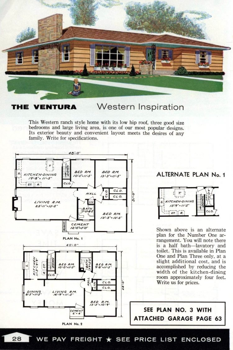 Vintage home plans from 1961 by the Aladdin Company (16)