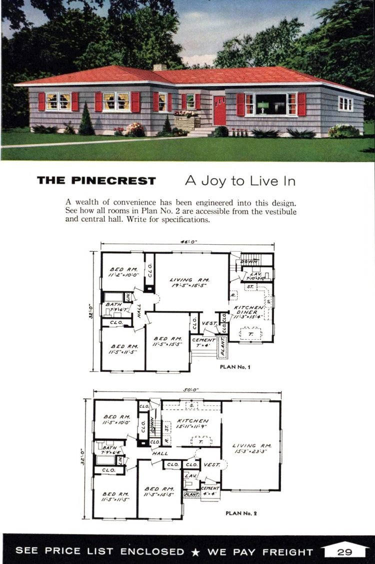 Vintage home plans from 1961 by the Aladdin Company (17)