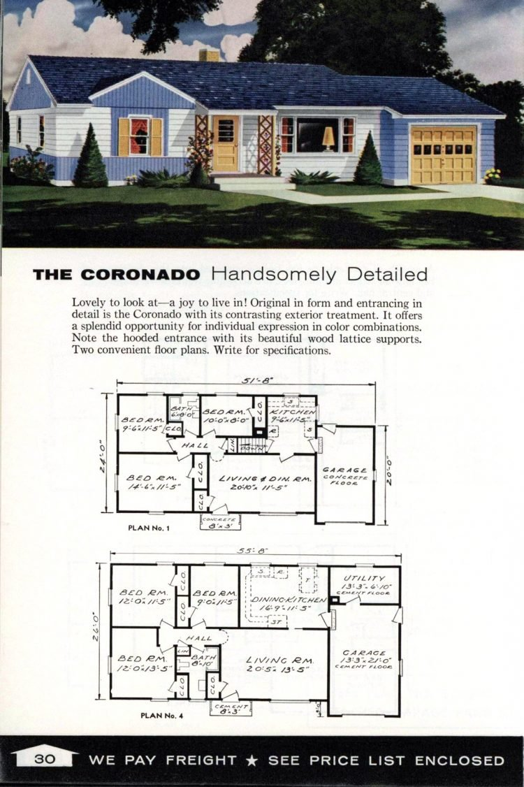 Vintage home plans from 1961 by the Aladdin Company (18)