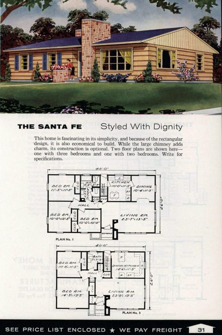 Vintage home plans from 1961 by the Aladdin Company (19)