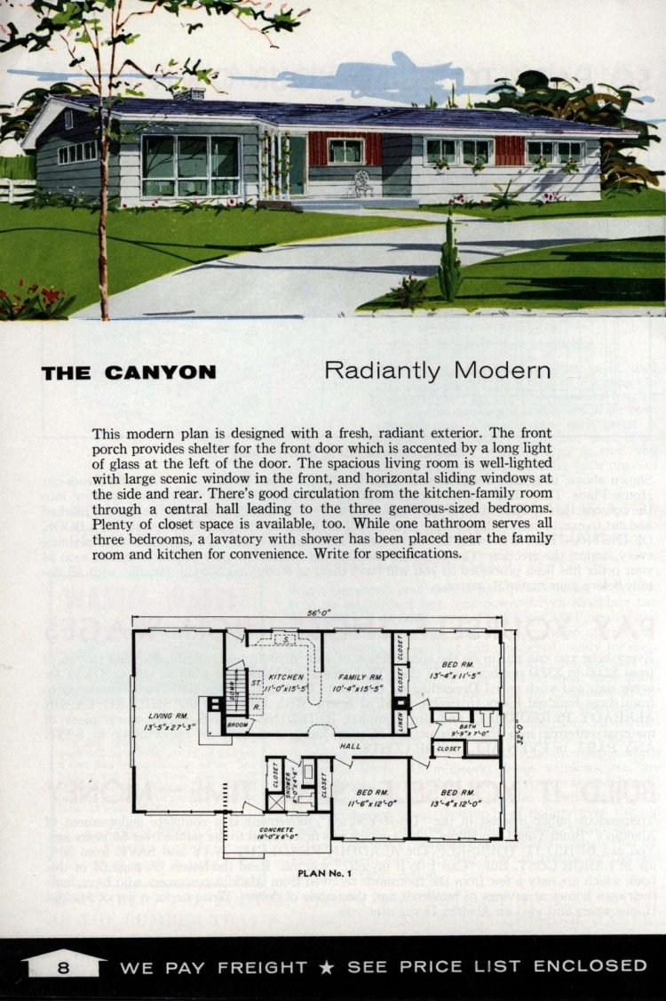 Vintage home plans from 1961 by the Aladdin Company (2)