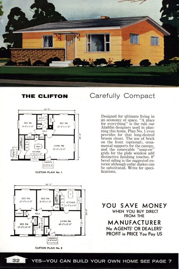 Vintage home plans from 1961 by the Aladdin Company (20)