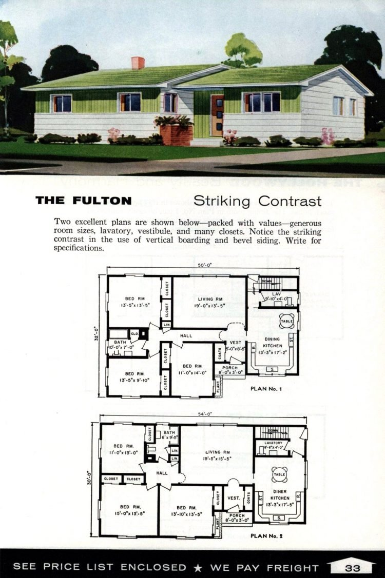 Vintage home plans from 1961 by the Aladdin Company (21)