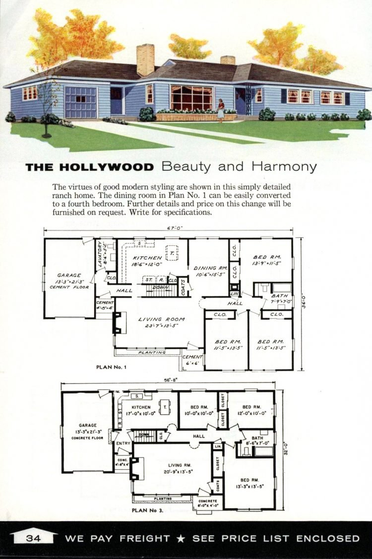 Vintage home plans from 1961 by the Aladdin Company (22)