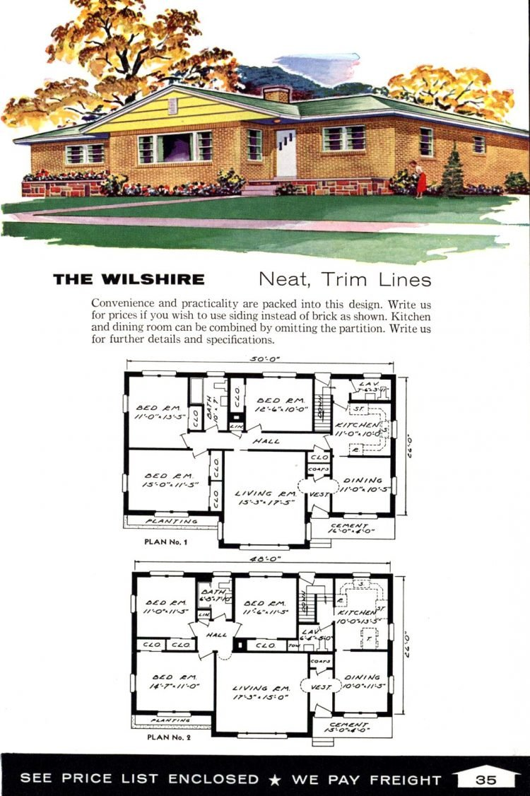 Vintage home plans from 1961 by the Aladdin Company (23)