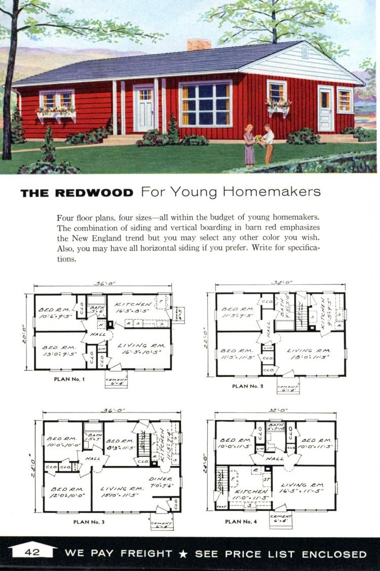 Vintage home plans from 1961 by the Aladdin Company (26)