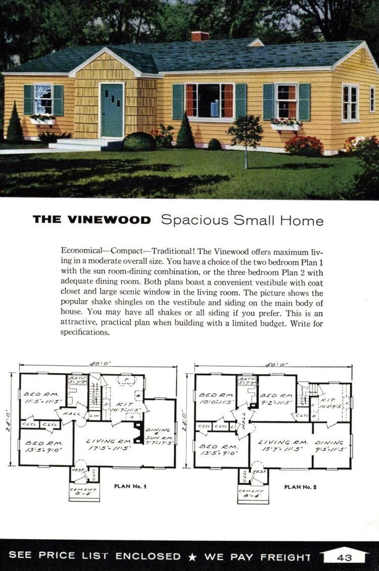 Vintage home plans from 1961 by the Aladdin Company (27)