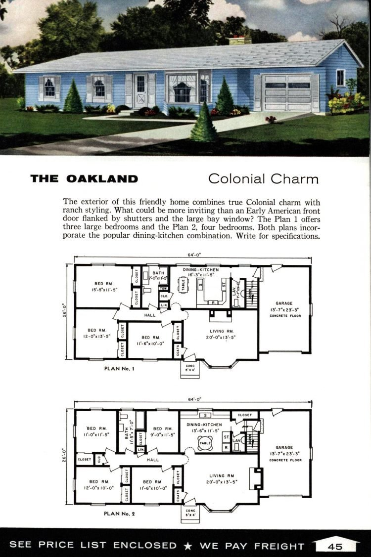 Vintage home plans from 1961 by the Aladdin Company (29)