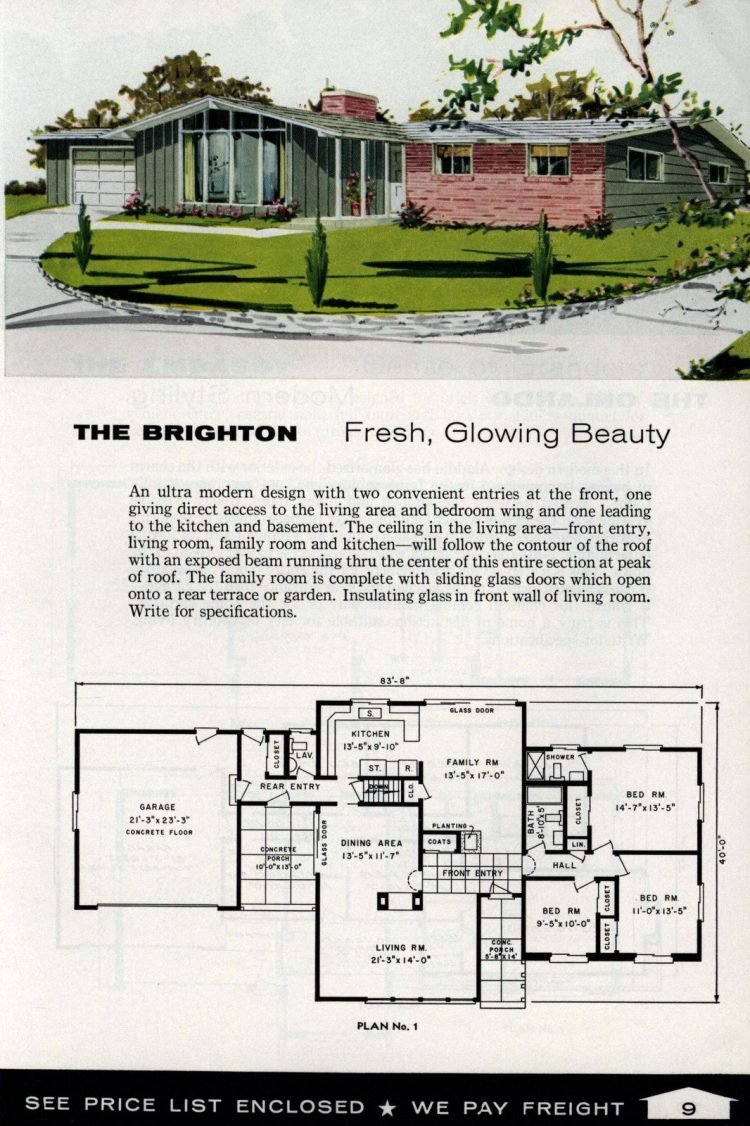 Vintage home plans from 1961 by the Aladdin Company (3)