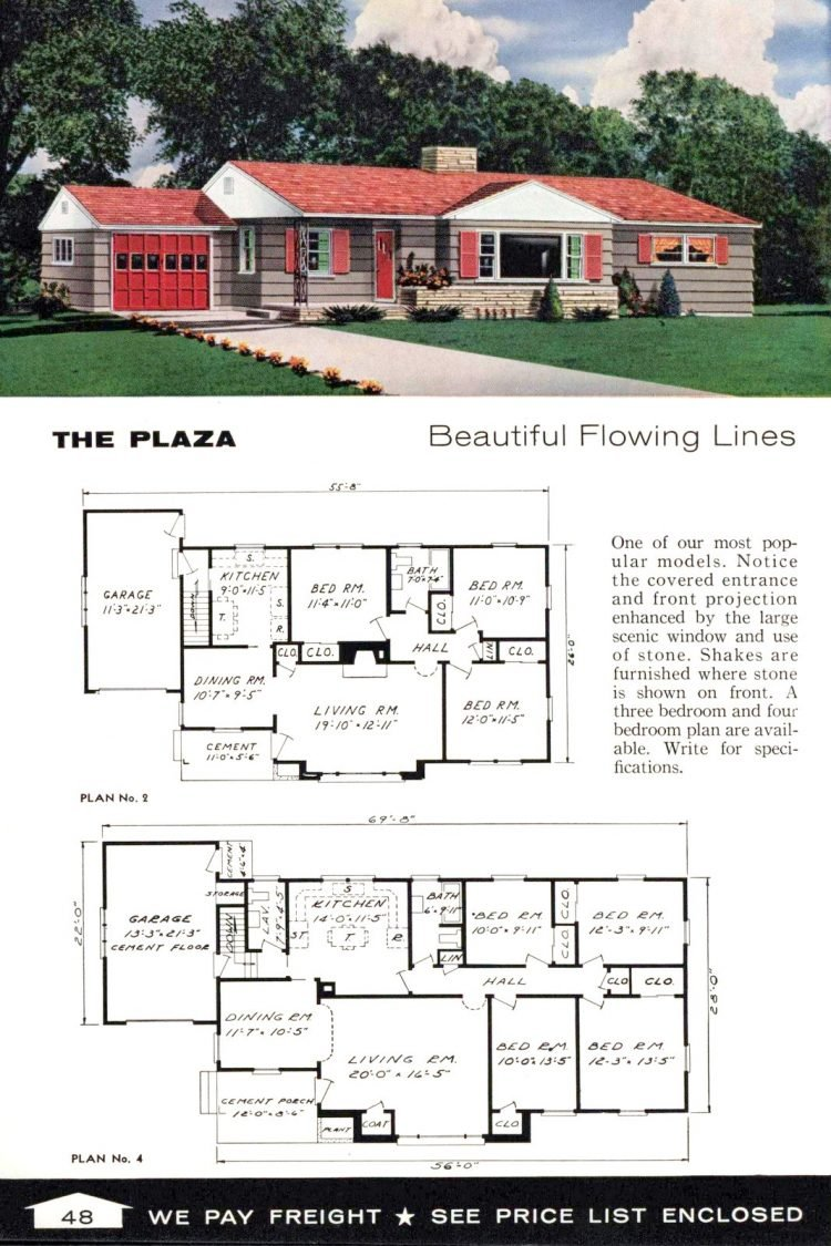 Vintage home plans from 1961 by the Aladdin Company (30)