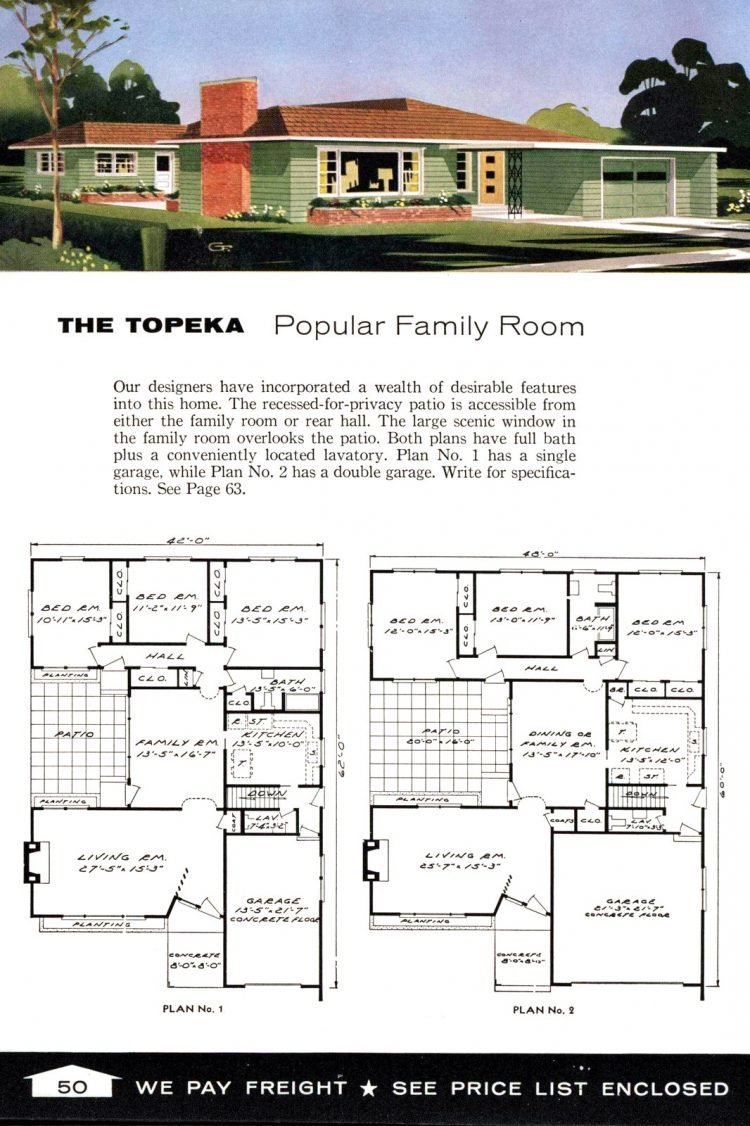 Vintage home plans from 1961 by the Aladdin Company (32)
