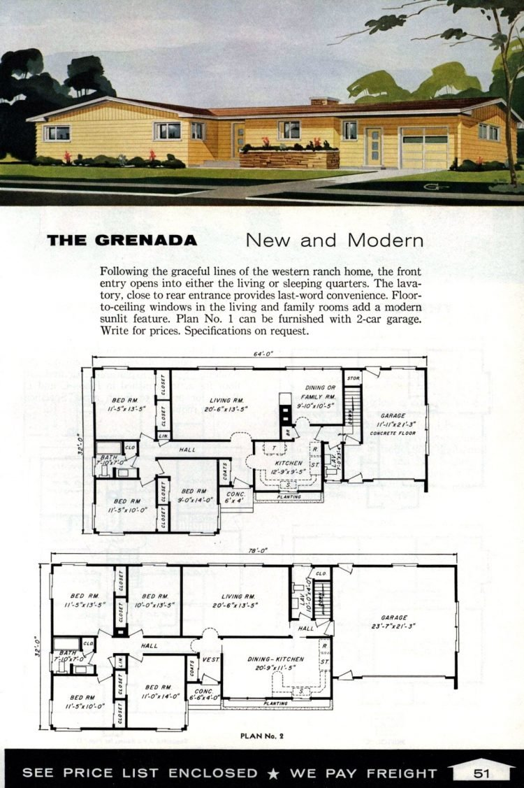 Vintage home plans from 1961 by the Aladdin Company (33)